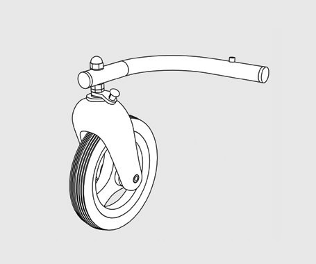Kinderwagenrad mit Gabel