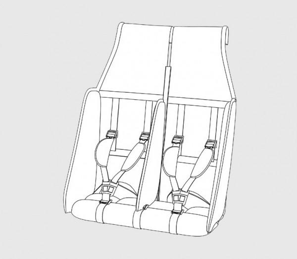 Kindercar Sitz Safe mit Seitenaufprallkissen
