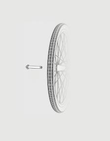 """Schnellspanner (75mm Einbaubreite) für Laufräder 20"""""""